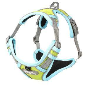 犬用ハーネス ペット胴輪 反射ハーネス 引っ張り防止 急き込み軽減 調節可能 小中大型犬 散歩 訓練 グリーン