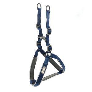 犬用ハーネス ペット胴輪 引っ張り防止 ソフト 調節可能 小中大型犬 散歩 訓練 お出掛 軽便 ブルー