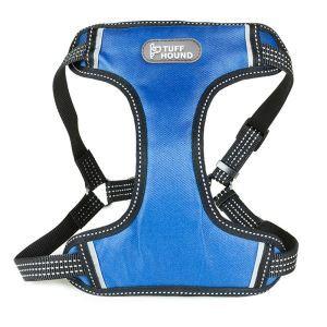 犬用ハーネス ペット胴輪 急き込み軽減 引っ張り防止 束縛感なし 調節可能 大型犬 散歩 訓練 軽便 ブルー