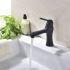 洗面水栓 バス蛇口 冷熱混合栓 立水栓 手洗器蛇口 水栓金具 水道蛇口 黒色