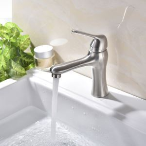 洗面水栓 バス蛇口 冷熱混合栓 立水栓 手洗器蛇口 水栓金具 水道蛇口 ヘアライン