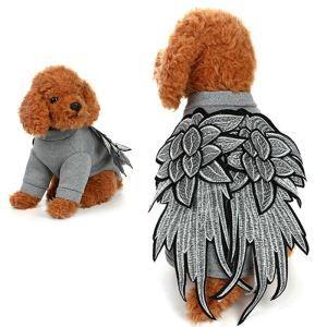 ペット服 犬猫兼用 羽服 鳥タイプの服 変身服 かわいい 快適 オシャレ グレー