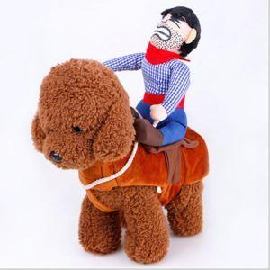 ペット服 お馬さん服 犬 変身服 カウボーイ 可愛い コスプレ 秋冬服 面白い コスチューム