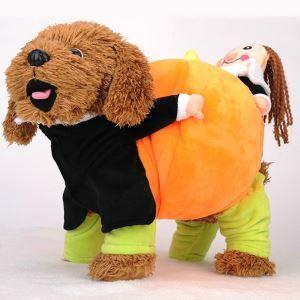 ペット服 かぼちゃ服 ハロウィン 犬猫 変身服 ギフトを運ぶ 可愛い コスプレ 秋冬服 面白い コスチューム