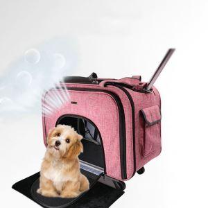 ペットバッグ キャリーバッグ 手提げ ドローバー 折り畳み可能 サイレントホイール お出かけ 犬猫用