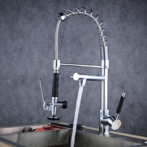 キッチン蛇口 冷熱混合栓 台所蛇口 シンク用水栓 水道蛇口 整流&シャワー吐水式 クロム BL0782
