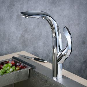 キッチン水栓 台所蛇口 引出し式水栓 冷熱混合栓 シャワー吐水式 クロム BL8803
