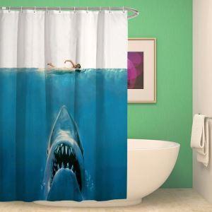 シャワーカーテン バスカーテン 防水防カビ プリント オシャレ 浴室 お風呂 リング付 深海動物柄 3D立体 1枚