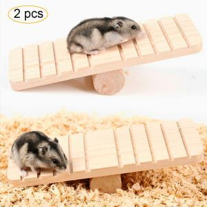 ハムスターおもちゃ シーソー 噛む玩具 木製 小動物用 遊び場 運動不足 ストレス解消 ゲージ内装 2個入り