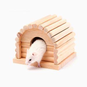 ハムスターハウス 家 小動物の部屋 アーチ形 住宅 木製 休憩所 ゲージ内装
