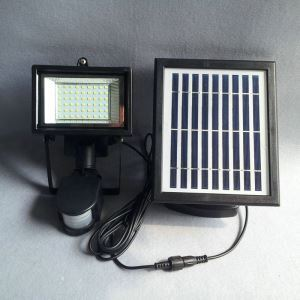 LEDソーラーライト 屋外ライト 壁掛け照明 PIRセンサー付き ソーラーパネル分離式 LEH53414BP