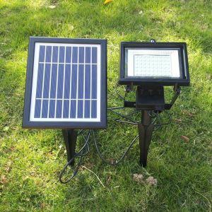 LEDソーラーライト 屋外ライト 庭園灯 ソーラーパネル分離式 地面に埋込み式 LEH53414BI