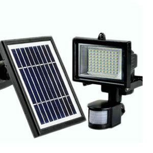LEDソーラーライト 壁掛け照明 屋外ライト PIRセンサー付き ソーラーパネル分離式 LEH53415AWP