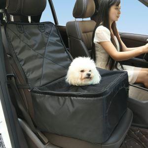 ペットボックス ドライブボックス 車用ペット座席 助手席 車用ペットシート 滑り止め 飛び出し防止 折り畳み可能