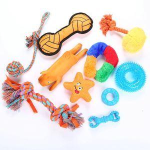 ペットおもちゃ 犬のおもちゃ 噛むおもちゃ 歯ぎしり 清潔 歯磨き ぬいぐるみ 天然ゴム セット 10個入り