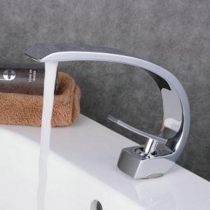 洗面水栓 バス蛇口 冷熱混合栓 立水栓 水道蛇口 手洗器水栓 クロム 弧型 BL9006