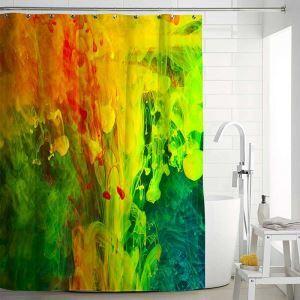シャワーカーテン バスカーテン 防水防カビ プリント オシャレ 浴室 お風呂 リング付 油絵画柄 1枚