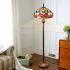 フロアスタンド ステンドグラスランプ ティファニーライト フロアランプ 照明器具 書斎 2灯 XCL04