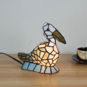 テーブルランプ ティファニーライト ステンドグラスランプ 枕元スタンド ナイトライト オオハシ型 1灯