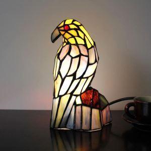 テーブルランプ ステンドグラスランプ 枕元スタンド ナイトライト オウム型 1灯
