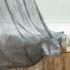 シアーカーテン オーダーカーテン UVカット 灰色 和風 レースカーテン(1枚)