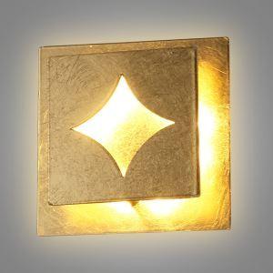 LED壁掛けライト ウォールランプ ブラケット 間接照明 玄関照明 オシャレ LED対応 金色 方形