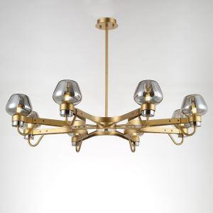 シャンデリア 照明器具 リビング照明 店舗照明 食卓照明 黒色/金色 8灯 QM66048P