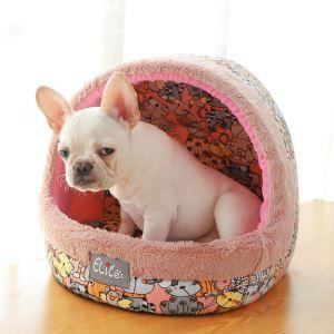 ペットベッド ペットハウス ペット用寝床 セミオープン 秋冬 暖かい 犬猫用
