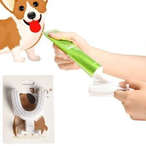 ペット用歯ブラシ 歯クリーン 両面ブラシ U型 犬猫 歯磨き ペットデンタルケア 口腔清潔 歯石除去
