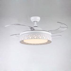 LEDシーリングファンライト 照明器具 リビング照明 ダイニング照明 オシャレ 3階段調色 LED対応 リモコン付 QM20011