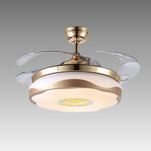 LEDシーリングファンライト 照明器具 リビング照明 ダイニング照明 オシャレ 3階段調色 LED対応 リモコン付 QM50201