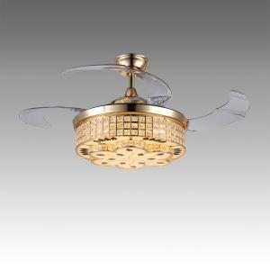 LEDシーリングファンライト 照明器具 リビング照明 ダイニング照明 オシャレ 3階段調色 LED対応 リモコン付 QM50281