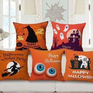 クッションカバー 抱き枕カバー ソファー・オフィス飾り クリスマス柄 Halloween Halloween 5色