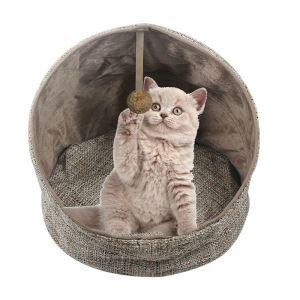 ペットベッド ハウス ペット用寝床 ドーム型 折り畳み式 四季用