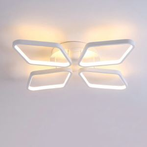 LEDシーリングライト 照明器具 間接照明 リビング照明 天井照明 オシャレ 菱形 LED対応 四環 CP102