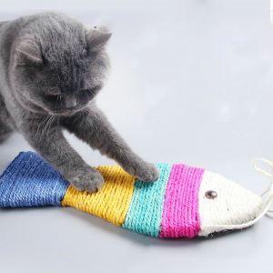 猫のおもちゃ 猫爪とぎ 爪研ぎパッド 魚型 爪磨き 猫遊び ストレス解消 運動不足解消