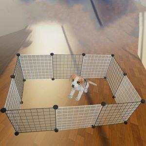 ペットフェンス ペットサークル ペット用ハイゲート 脱走防止柵 犬猫用 組立て式 設置簡単 12枚セット