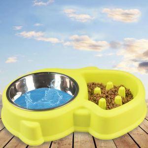 ペット食器 早食い防止食器 過剰給餌防止 ペットボウル 犬猫用 餌入れ 水やり 給食 給水