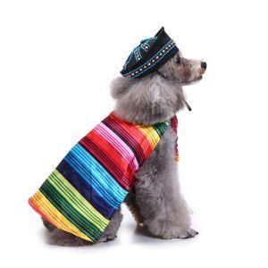 ペット服 クリスマス カラー ストライプ 可愛い 面白い