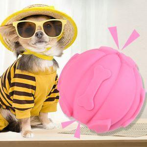 ペットおもちゃ 噛むおもちゃ 発声ボール 歯磨きボール 音の出る玩具 耐久性 ストレス解消