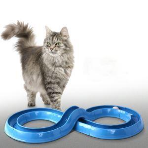 猫のおもちゃ 猫じゃらし プレイサーキット ぐるぐる ボール 型変える可能 運動不足 ストレス解消