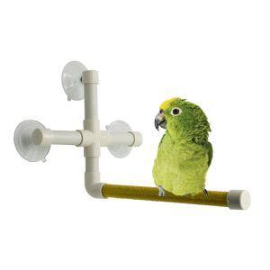 鳥用シャワーパーチ インコスタンド 吸盤式 インコ お風呂 シャワー台 止まり木 バランス練習 鳥休み場所