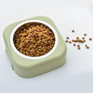 ペット食器 給食ボウル 給水ボウル ステンレス鋼 樹脂台付き 犬猫用 3pcs