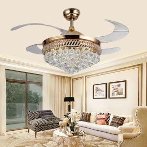 LEDシーリングファンライト リビング照明 寝室照明 ダイニング照明 2階段調色 LED対応 リモコン付 金色 QM3001