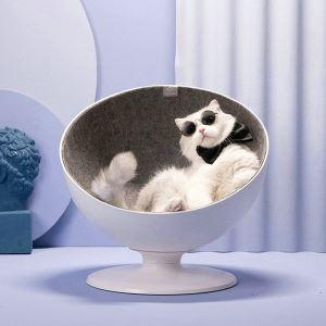 猫ベッド 回転ベッド 椅子型 回転椅子 ペット用 ドーム 360度自由回転 おしゃれ