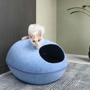 猫ベッド ペットハウス 猫用寝袋 隠れ家 フェルト ペットソファ 四季通用 犬猫用