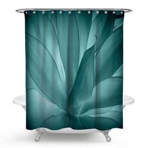 シャワーカーテン バスカーテン 防水防カビ プリント オシャレ 浴室 お風呂 リング付 多肉植物柄 3D立体
