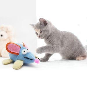 猫のおもちゃ ネズミ 猫じゃらし 回転ネズミ 暴走マウス 運動不足 ストレス解消 4個入り