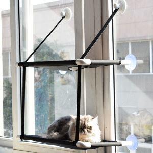 猫ハンモック 二層ハンモック 猫ベッド 窓用 吸盤式 2階式 日向ぼっこ 昼寝 取付簡単