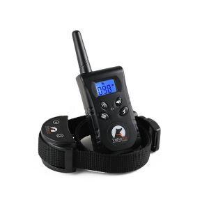 無駄吠え防止首輪 トレーニングカラー 伸縮首輪 しつけ用 電撃 警告音 振動感度で制御 LCD表示